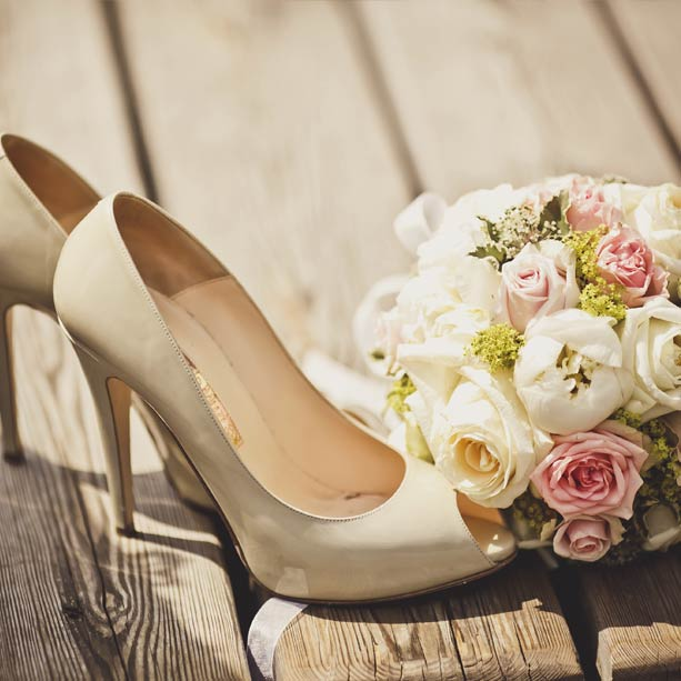 Flores y pisadas